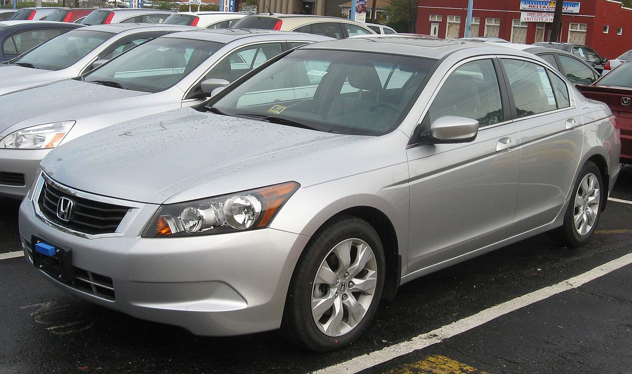 File 2008 Honda Accord Ex L Sedan Jpg Wikimedia Commons
