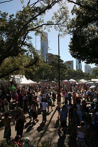 Midsumma Festival - Carnival crowd at Alexandra Garden