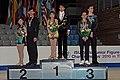 2010 Junior Worlds Pairs - Podium - 3975a.jpg