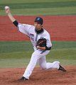 20111015 Yuki Kuniyosi, pitcher of the Yokohama BayStars, at Yokohama Stadium.jpg