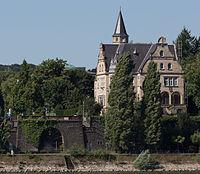 2013-08-05 Villa Spiritus, Kaiser-Friedrich-Straße 19, Bonn, Rheinseite IMG 0505.jpg