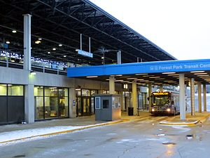 Forest Park station - Image: 20130202 06 CTA Blue Line Forest Park
