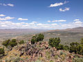 "2014-06-13 12 21 09 View north-northeast from the summit of ""E"" Mountain in the Elko Hills of Nevada.JPG"