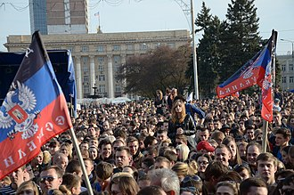 Self-determination - Pro-Russian separatists in Donetsk during the Ukraine-Crisis, April 2015