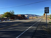 2015-10-30 09 30 58 View west along Main Street (Nevada State Route 427) at the intersection with Washeim Street (Nevada State Route 447) in Wadsworth, Nevada.jpg