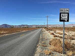 Nevada State Route 827 - View at the east end of SR 827 looking westbound