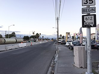 Nevada State Route 612 - View at the south end of SR 612 looking northbound