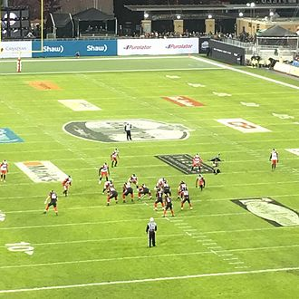 Henry Burris - Henry Burris (1), leading the Ottawa Redblacks on offense against the Calgary Stampeders in the 104th Grey Cup.