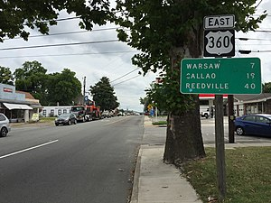 U.S. Route 360 - View east along US 360 in Tappahannock