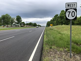 Evesham Township, New Jersey - Route 70 in Evesham Township