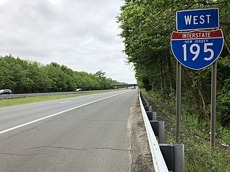Howell Township, New Jersey - I-195 westbound in Howell Township