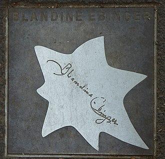 Blandine Ebinger - Walk of Fame of Cabaret