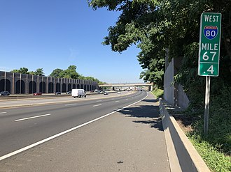 Bogota, New Jersey - I-80 westbound in Bogota