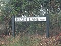 2018-08-09 Street name sign, Heath Lane, Trimingham.JPG