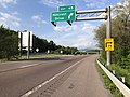 2019-05-17 17 59 55 View east along Interstate 68 and U.S. Route 40 and north along U.S. Route 220 (National Freeway) at Exit 45 (Hillcrest Drive) in Wolfe Mill, Allegany County, Maryland.jpg