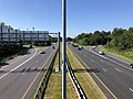 2019-09-03 10 41 10 View south along U.S. Route 29 (Columbia Pike) from the overpass for Maryland State Route 32 (Patuxent Freeway) in Columbia, Howard County, Maryland.jpg