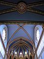 223 Santuari de la Misericòrdia (Canet de Mar), sostre de la nau i de la galeria de l'orgue.JPG