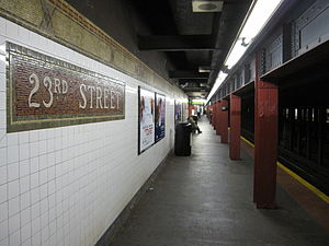 23rd Street (IRT Broadway–Seventh Avenue Line) - Downtown platform