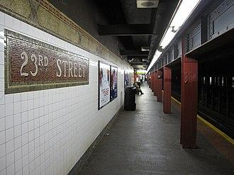 23rd Street (IRT Broadway–Seventh Avenue Line) - Downtown platform