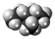 Spacefill model of 3-methylpentane