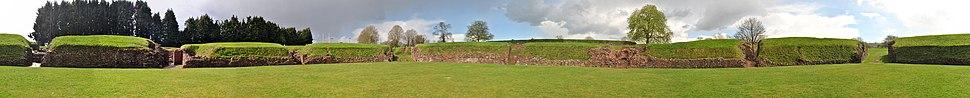 360° panoramic view of the amphitheatre at Caerleon