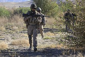 12th Marine Regiment (United States) - 3d Bn, 12th Marines patrol in Kajaki District