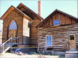 Bannack, Montana - The Methodist Church in Bannack, built in 1877