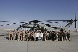 HMH-466 - Squadron photo celebrating 60,000 flight hours
