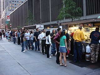 The Halal Guys Fast food carts in Manhattan, New York