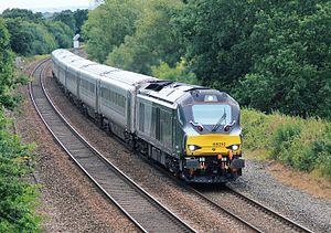 Chiltern Main Line - Image: 68010 Chiltern Railways Hatton Bank 19 08 15 (20628237900)
