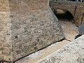 694 Torres dels Serrans (València), fossat i talús de la torre de llevant.jpg