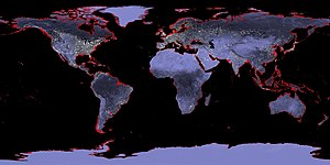 Sea level rise - Image: 6m Sea Level Rise