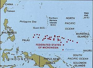 National Register of Historic Places listings in the Federated States of Micronesia - Map of the Federated States of Micronesia