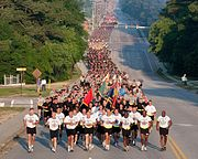 82d Airborne Division All-American Week Run which is the first activity of All-American Week