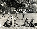 9th Gurkha Rifles in 1915 detail, from- A football match. Gurkhas versus a Signal Company (Photo 24-51) (cropped).jpg