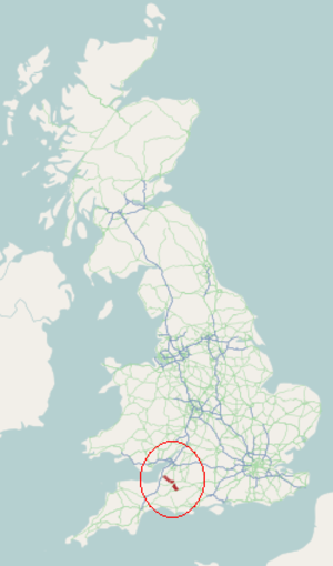 A371 road - Image: A371 road map