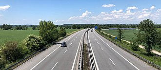 Bundesautobahn 3 - The A3 a few kilometers from the border to Austria