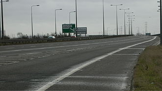 A50 road - A50 west of junction 1