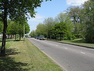 A563 road road in England