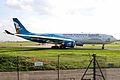 A7-ACI A330-202 Qatar Aws (Asian Games 2006 blue c-s) MAN 09AUG06 (5909946315).jpg
