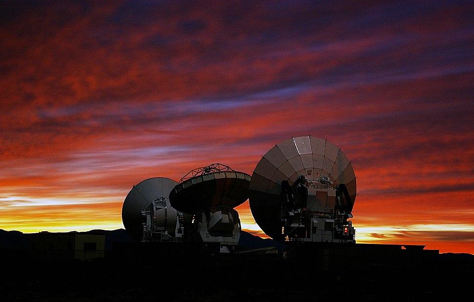 ALMA Prototype-Antennas at the ALMA Test Facility