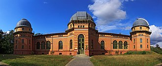 Leibniz Institute for Astrophysics Potsdam - The Astrophysical Observatory Potsdam isn't used as observatory any more. Nowadays it hosts the Potsdam Institute for Climate Impact Research as part of the Albert Einstein Science Park