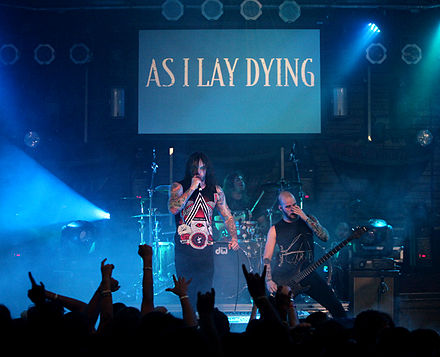 As I Lay Dying performing in Fort Lauderdale, Florida in March 2011 AS I LAY DYING Live in Fort Lauderlade 2.jpg