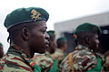 A Cameroonian soldier stands in formation during the opening ceremony of Central Accord 14 at the 102nd Air Force Base Airfield in Douala, Cameroon, March 11, 2014 140311-A-DO086-193.jpg