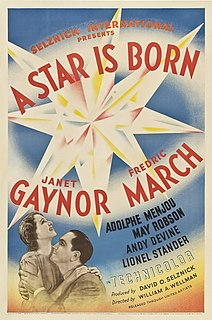 <i>A Star Is Born</i> (1937 film) 1937 film by William A. Wellman