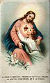 A believing soul embracing Christ's Sacred Heart. Colour Wellcome V0035636.jpg