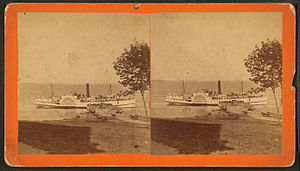 Winterport, Maine - Steamboat Cambridge at the landing