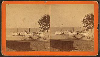 Winterport, Maine - Steamboat Cambridge at the landing