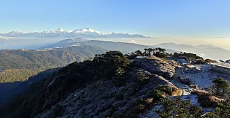 Khangchendzonga National Park - Image: A view of the Kumbhakarna range containing Mt. Kangchenjunga, as seen from Sandakpur, Ilam