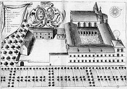Abbaye Saint-Pierre du Mas-Garnier dans Monasticon Gallicanum.jpg